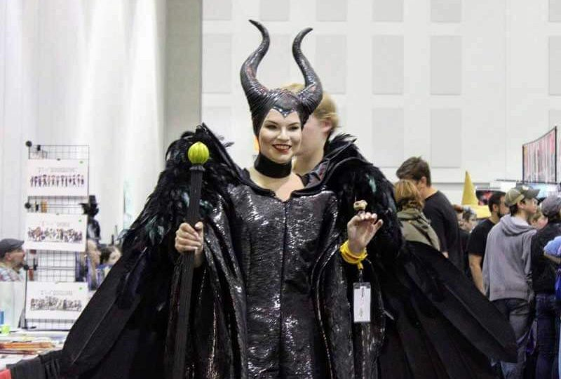 woman cosplayer as Maleficent